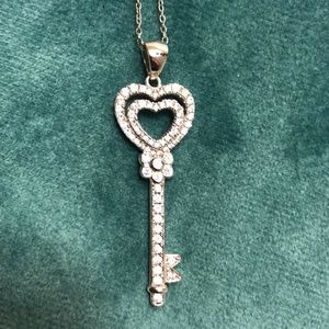 helzberg heart key necklace with diamonds